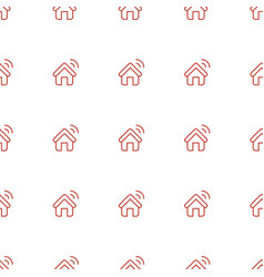 House al icon pattern seamless white background vector