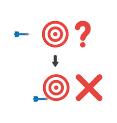 Icon concept of bulls eye with question mark and vector