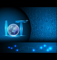 internet of things iot conceptlight letter text vector image