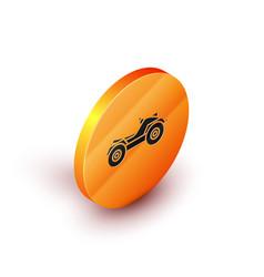 Isometric all terrain vehicle or atv motorcycle vector