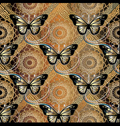 lace seamless pattern with mandalas and vector image