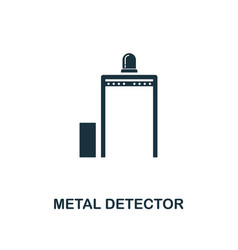 metal detector icon premium style design from vector image
