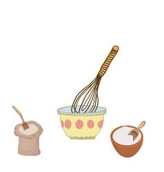 Mixing bowl cute kitchen vector