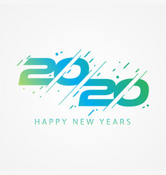 Modern and colorful design 2020 happy new year vector