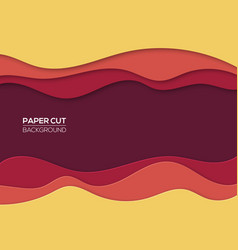 modern paper cut art cartoon abstract waves vector image