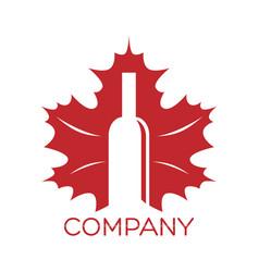modern wine logo vector image