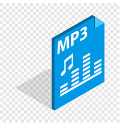 Mp3 file format isometric icon vector