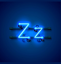 Neon font letter z art design singboard vector