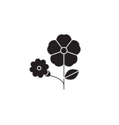 petunia black concept icon petunia flat vector image