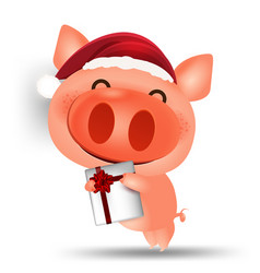 Pig happy chinese new year 2019 cartoon isolated vector