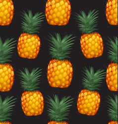 pineapples seamless patter8 vector image