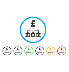 Pound bank scheme rounded icon vector