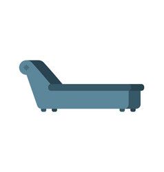 Psychologist couch isolated psychotherapist vector