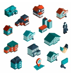 Real Estate Icon Isometric vector