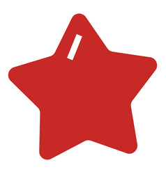 red star xmas icon simple style vector image