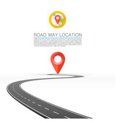 road goes into horizon vector image