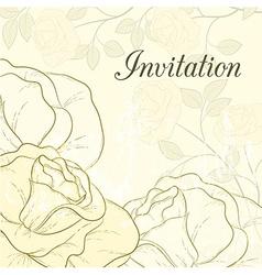 Rose design card vector