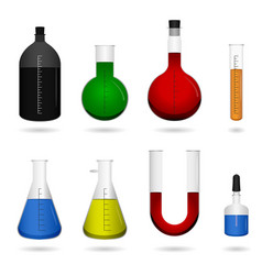 Science chemical lab equipment a set science vector