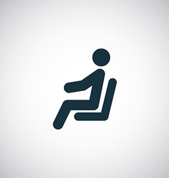 Seating man icon vector