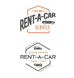 set of car rental service elements can be used as vector image