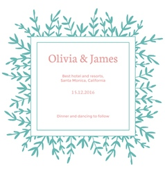 simple invitation vector image