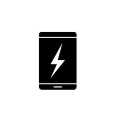 smartphone lightning energy icon on white vector image