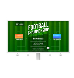 Soccer european football championship on vector