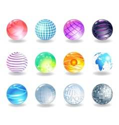 Spheres icons vector