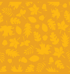 Subtle gold autumn background fall leaves seamless vector