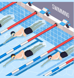 swimming pool isometric background vector image