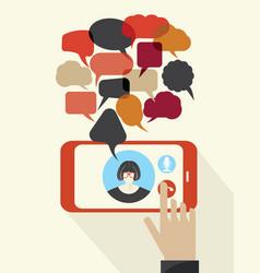talking phone vector image