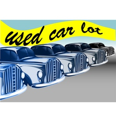 used car lot vector image
