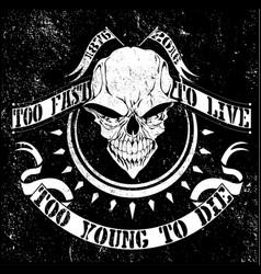 Vintage skull t shirt graphic design vector