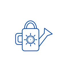 watering can line icon concept vector image