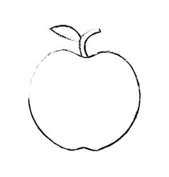 whole apple icon image vector image