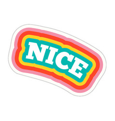 Word text nice image vector