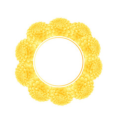 yellow dahlia banner wreath vector image