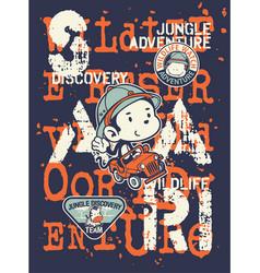 kids discovery team jungle safari adventure vector image vector image