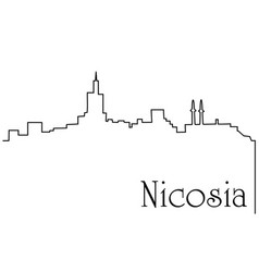 nicosia city one line drawing background vector image