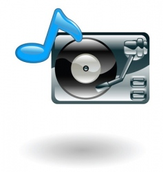 record player illustration vector image vector image