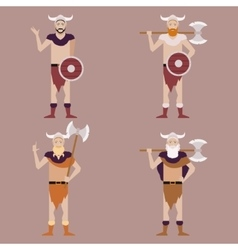 Set of Barbarians2 vector image