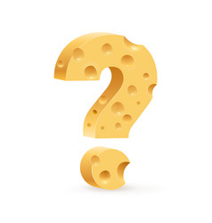 sign of question on white background for design vector image vector image