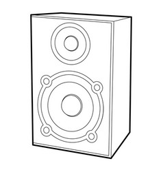 speaker icon outline style vector image vector image