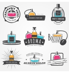 The Fragrance Shop set Exclusive boutique with vector image