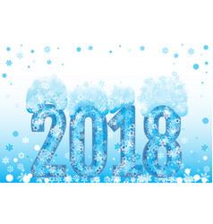 christmas 2018 vector image vector image