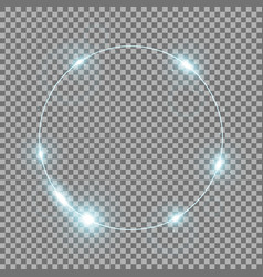 circle of light aqua color vector image