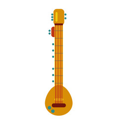 Indian culture musical string instrument sitar vector