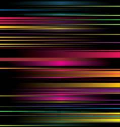 rainbow stripe ribbon vector image
