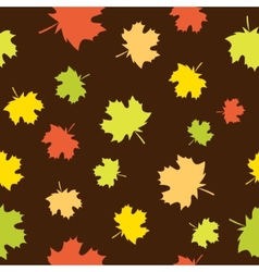 Seamless background with maple vector image