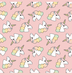 unicorns seamless pattern background vector image vector image